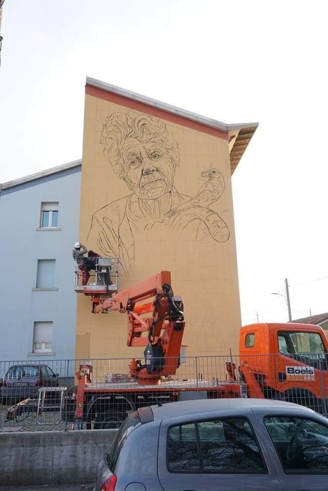 L'opera di Vera Bugatti a San Bartolomeo, foto da pagina ufficiale Emilio Del Bono