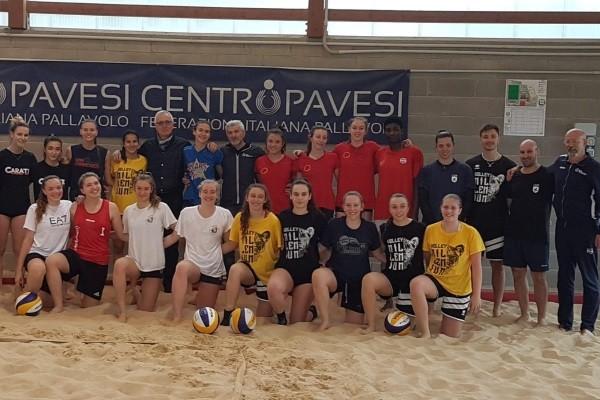 Le atlete Millenium impegnate nella Selezione Regionale di beach volley a Milano