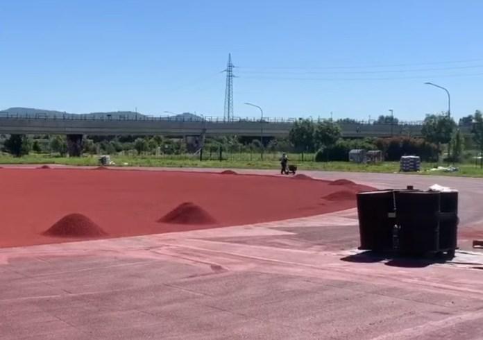 La nuova pista di atletica a Sanpolino