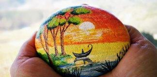 Un sasso dipinto - Foto di rottonara da Pixabay