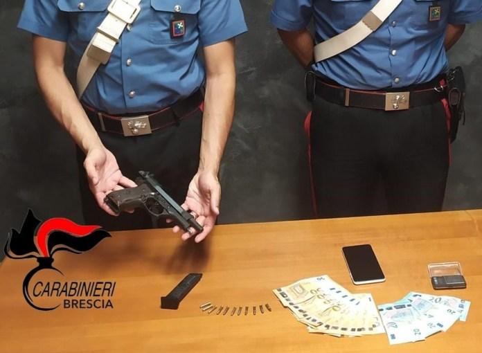 Carabinieri - pistola clandestina sequestrata
