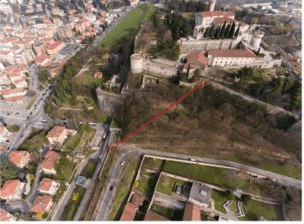 Un'immagine del progetto dell'ascensore - foto comune di Brescia