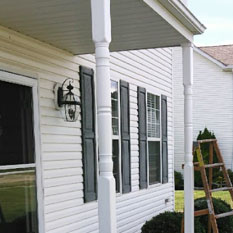 picture of a soffit and siding job done by brightside home restoration services in medina ohio