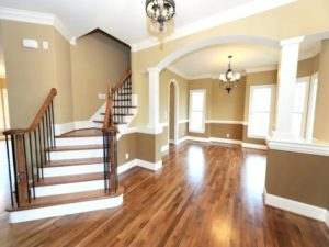 picture of interior painting job that brightside restoration interior painting near wadsworth and home restoration company