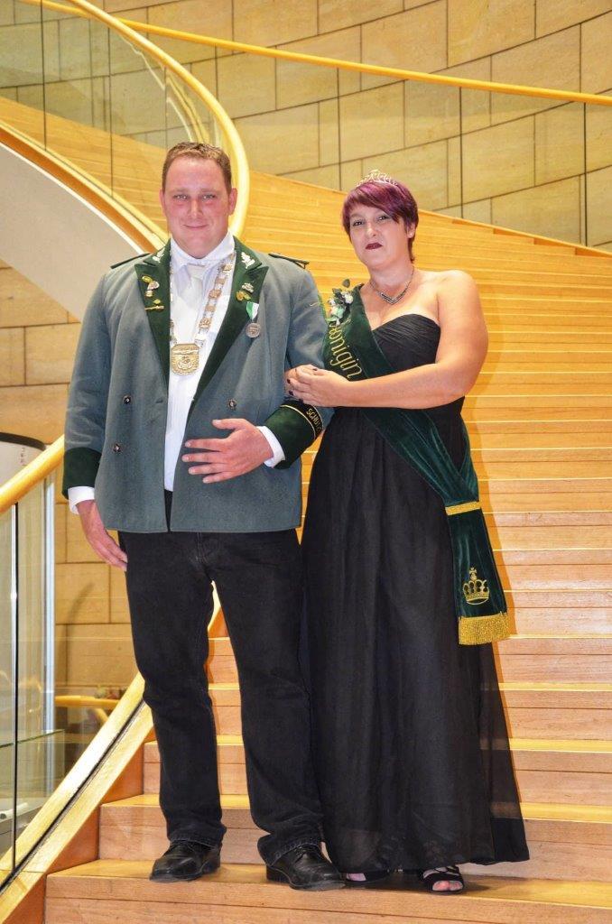 König Nikolai und Königin Carmen beim Empfang im Düsseldorfer Landtag