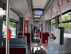 Heller Fahrgastraum im neuen Tramino