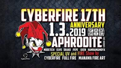 Photo of Cyberfire 17 let w/ DJ Aphrodite (UK) @Fabric 1-3-2019