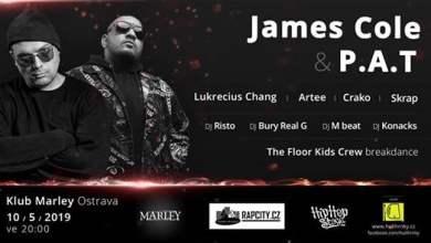 Photo of James Cole, P. A. T, Artee, L.Chang, Crako – Ostrava club Marley