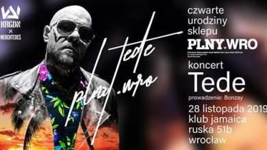 Photo of PLNYwro IV Urodziny feat TEDE 28 listopada Jamaica Wrocław