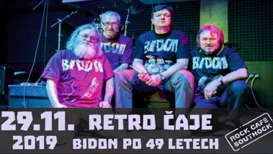 Photo of Retro čaje Bidon po 49 letech ★ 29.11.2019 ★ Rock Café Southock