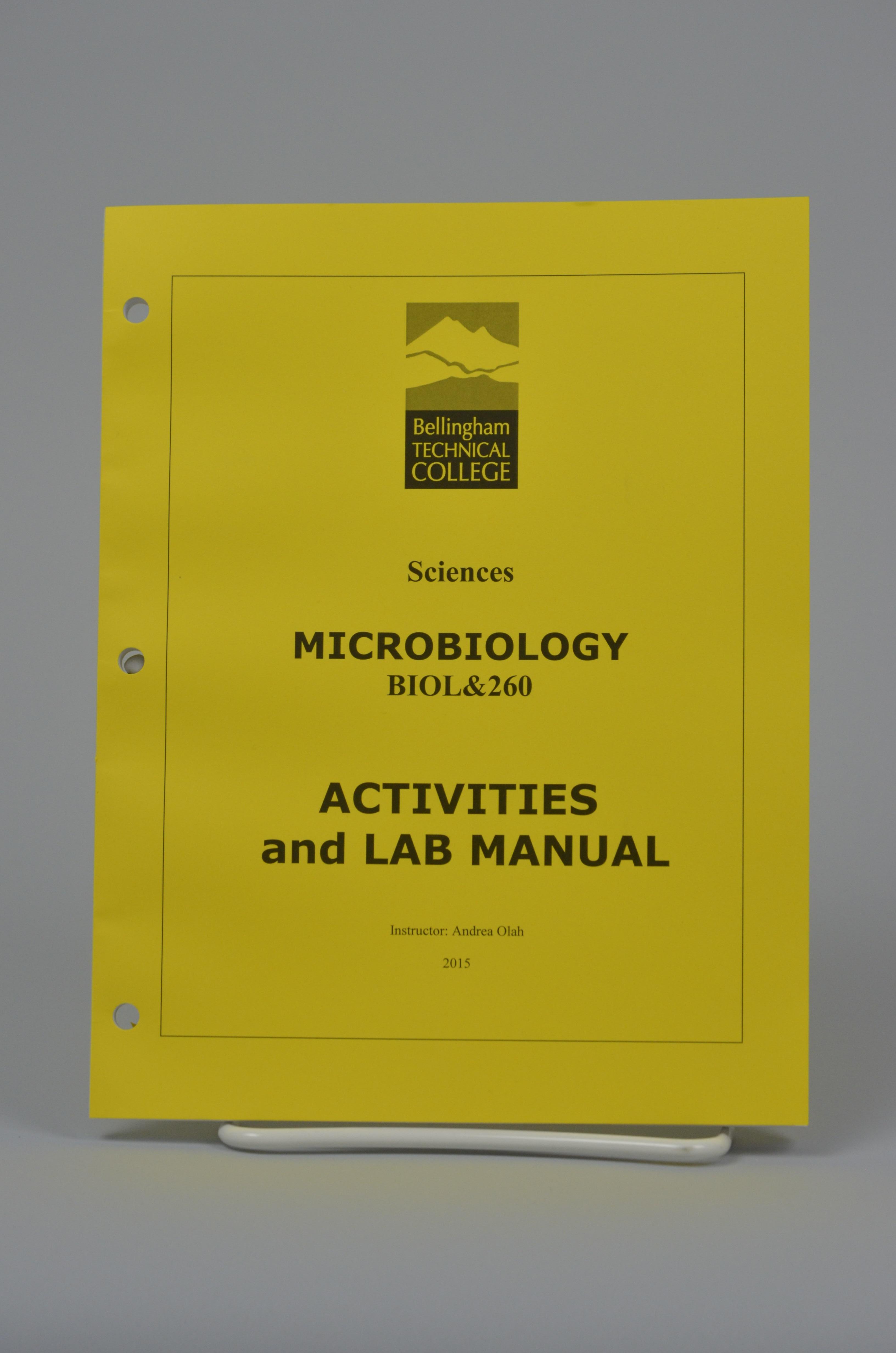 Biol 260 Microbiology Activities Amp Lab Manual