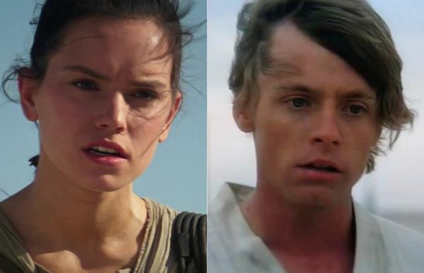 Rey & Luke Star Wars