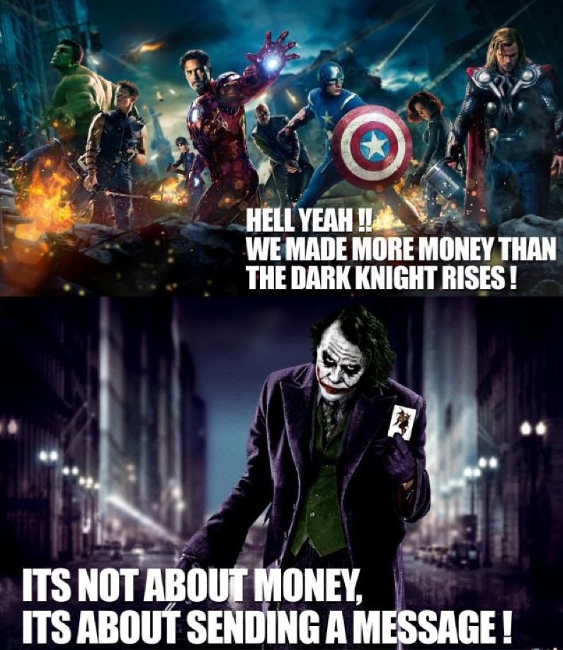 Batman Avengers Sending a Message