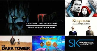 Ster Kinekor September Releases - IT Movie, The Dark Tower, Inhumans, Kingsman, Emoji Movie