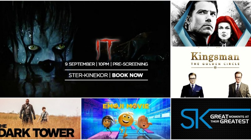 Ster Kinekor September Releases - IT Movie, The Dark Tower, Inhumans, Kingsman, Emoji Movie