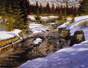 """Mountain Stream"""" Oil 16x20 1200"""
