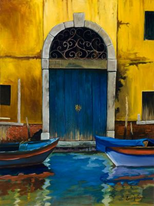 """Blue Door"" Oil giclee on canvas, gallery wrap, 26""x20"" edition 50 175.00"