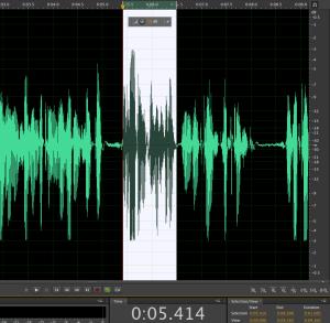 عمل مونتاج لملف البودكاست الصوتي قبل تصديره إلى mp3