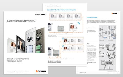 new 2wires door entry system design  installation