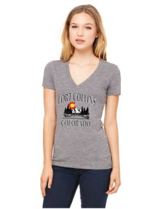 Fort Collins Colorado Ladies V-Neck