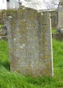Superintendent Acton's grave stone