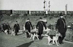 Armed Officers at Hull Docks, 1941