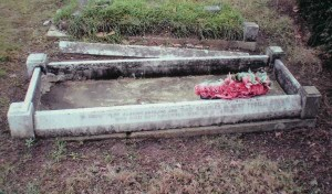 The grave of Charles A Tyrell.