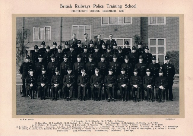 The December 1948 passing out class photograph. Click photo for a larger view