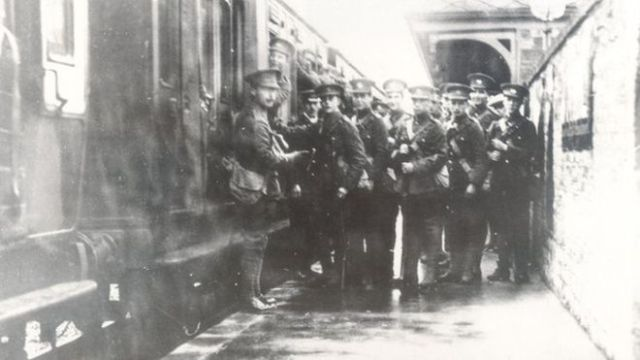 The city was a transport hub during the war so the men came from all over the country.