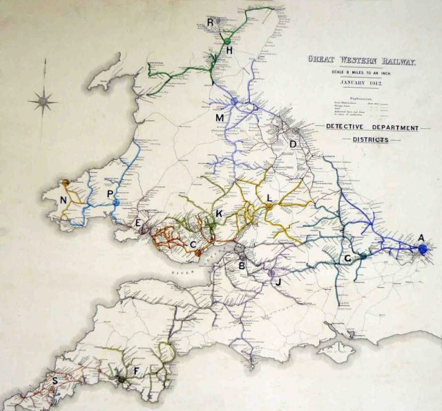 GWR Det Dept map
