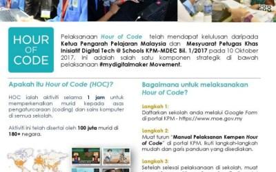 Hadiah RM47k dalam Hour of Code untuk Sekolah