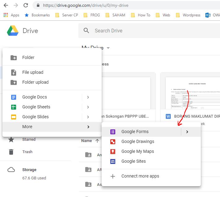 Cara Buat Borang Google Form dan QR Code
