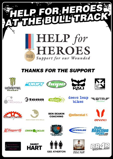 BR4R Bull Track Help for Heroes Poster