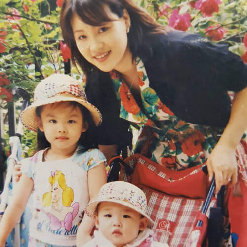ナヨンの家族写真