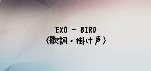 EXO(エクソ) BIRD【歌詞・掛け声】