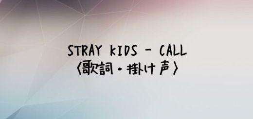 Stray Kids(スキズ) CALL【歌詞・掛け声】