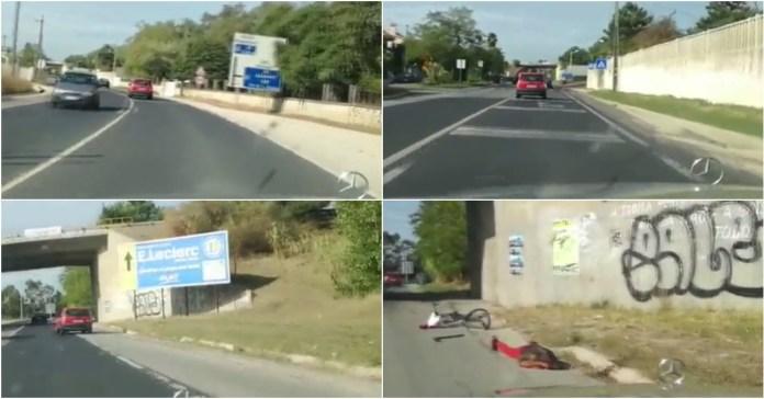 Condutor atropela ciclista e foge na Margem Sul