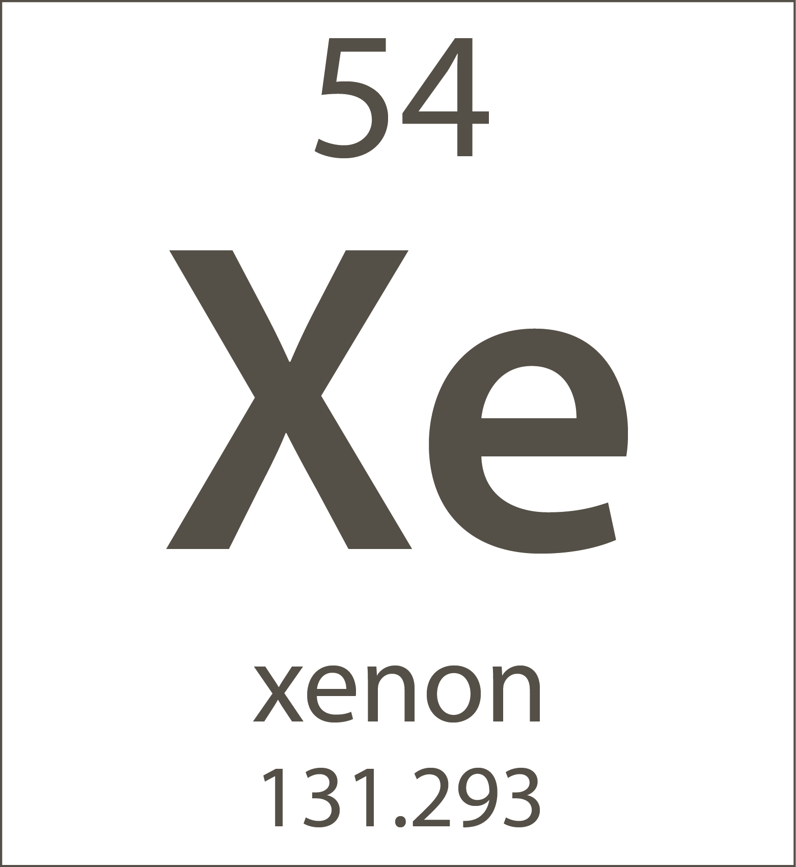 Xenon Element Periodic Table