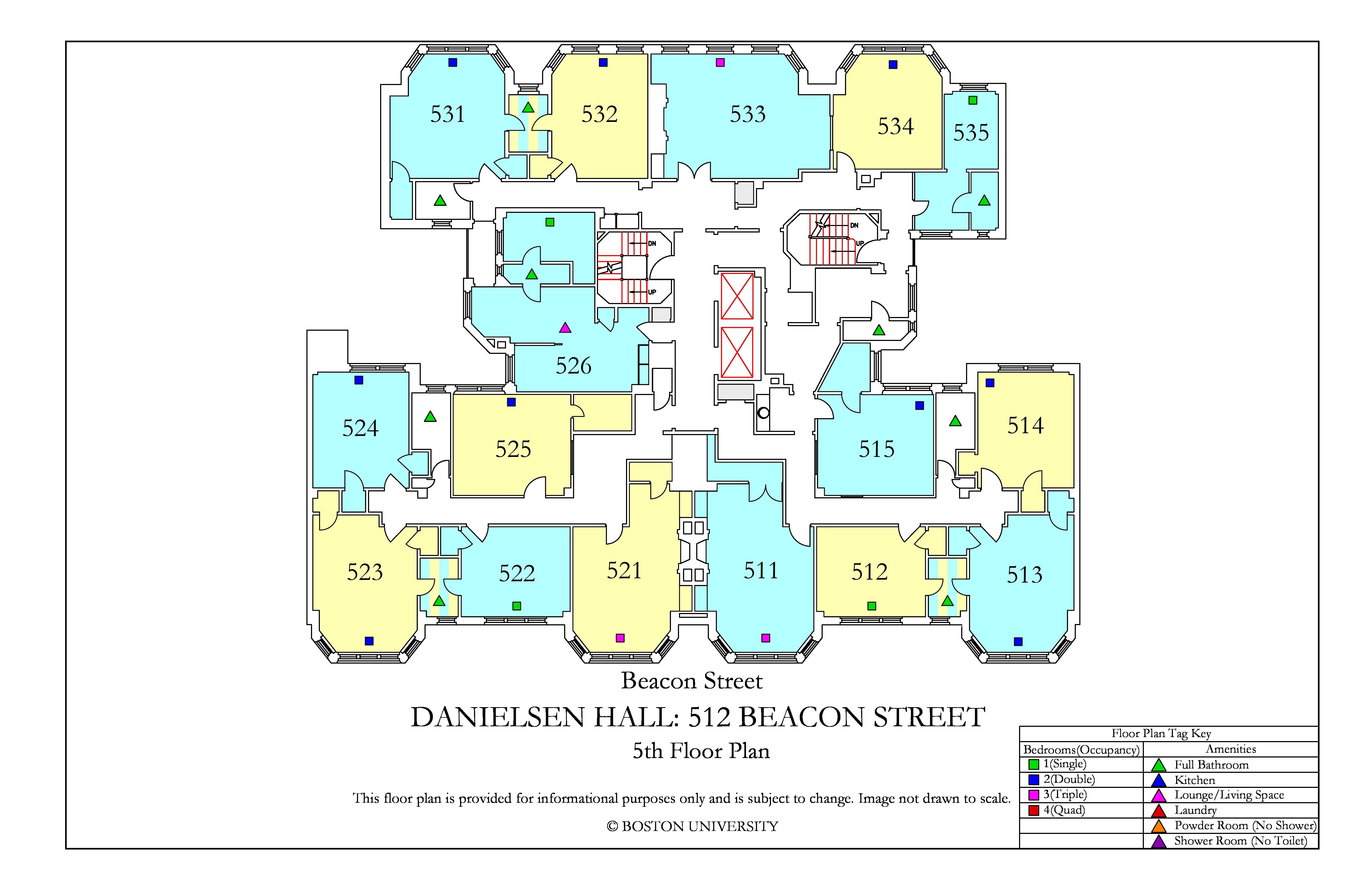 Danielsen Hall Floor Plan Housing Boston University