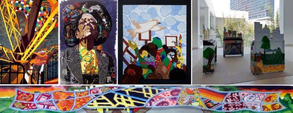 Obras de Nzuji de Magalhaes (cortesia do artista).