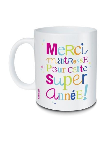 mug merci maitresse pour cette super annee