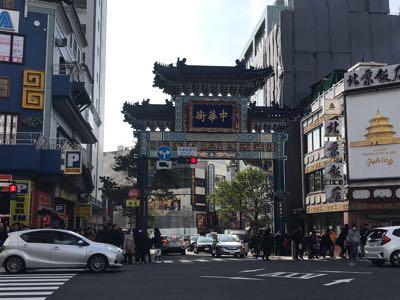 横浜中華街,朝陽門,青龍門