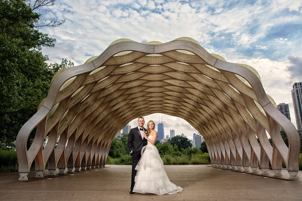 A Glamorous Cafe Brauer Wedding   Chicago Wedding   Monique Lhuillier Bridal Gown   Bubbly Moments