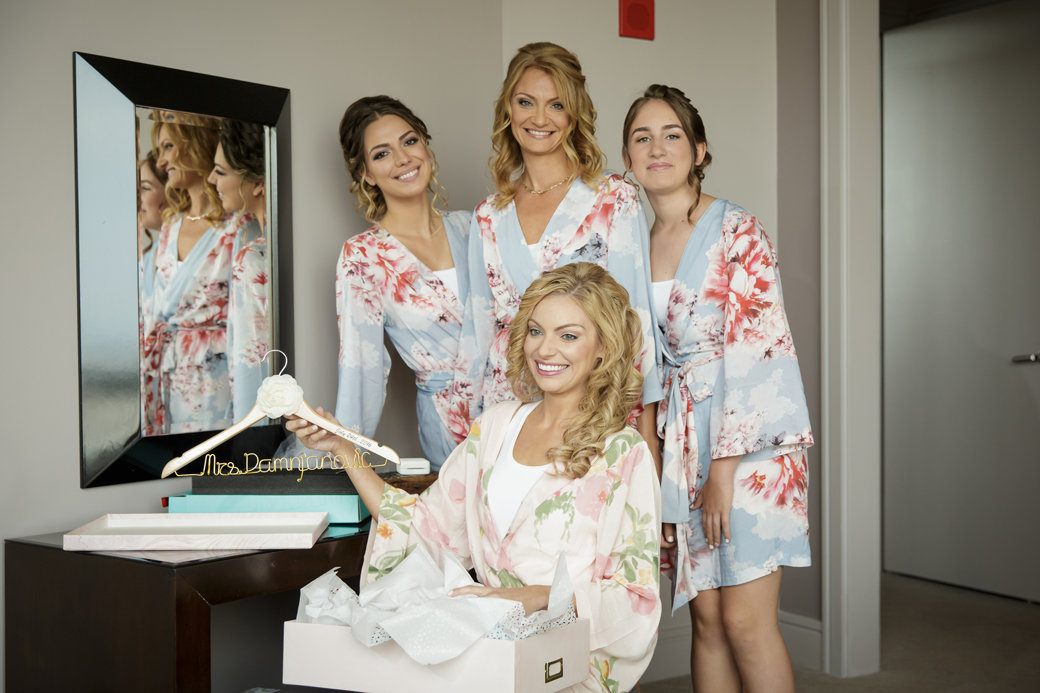 Floral Bachelorette Robes   Chicago Wedding   Cafe Brauer Wedding   Bubbly Moments