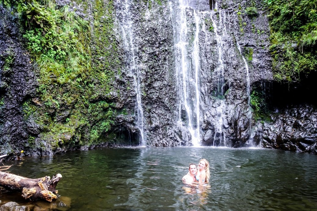 Wailua Falls | Driving the Road to Hana | Maui | Hawaii | Bubbly Moments