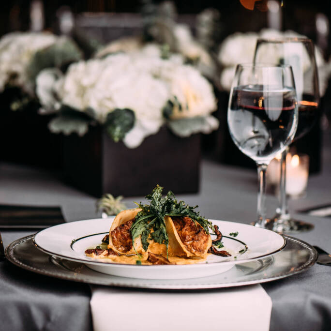 plated wedding meal All Occasions Catering