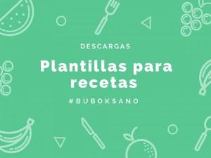 Haz un recetario con nuestras plantillas para recetas de cocina