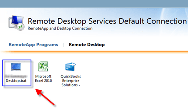 Publish a users Desktop as a RemoteAPP on RD Web Access