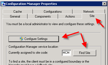 Configuration Manager did not find a site to manage this