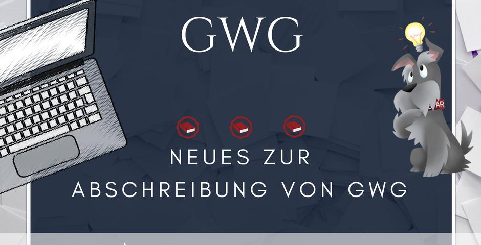 GWG Abschreibung Anlagevermögen